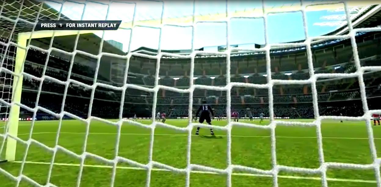 Fifa 2012 por trás do gol