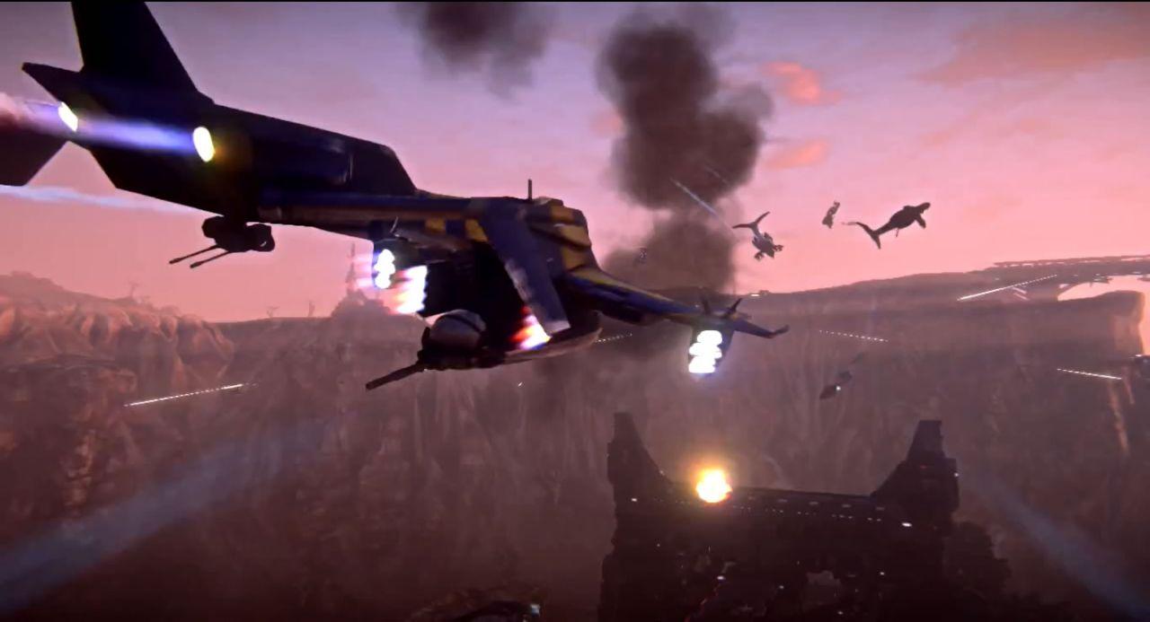 Veículos variados para a guerra em PlanetSide 2