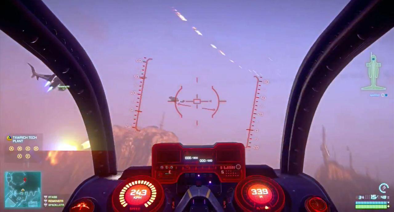 Dentro de um avião em PlanetSide 2