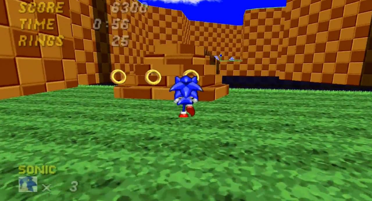 Sonic pegando argolas
