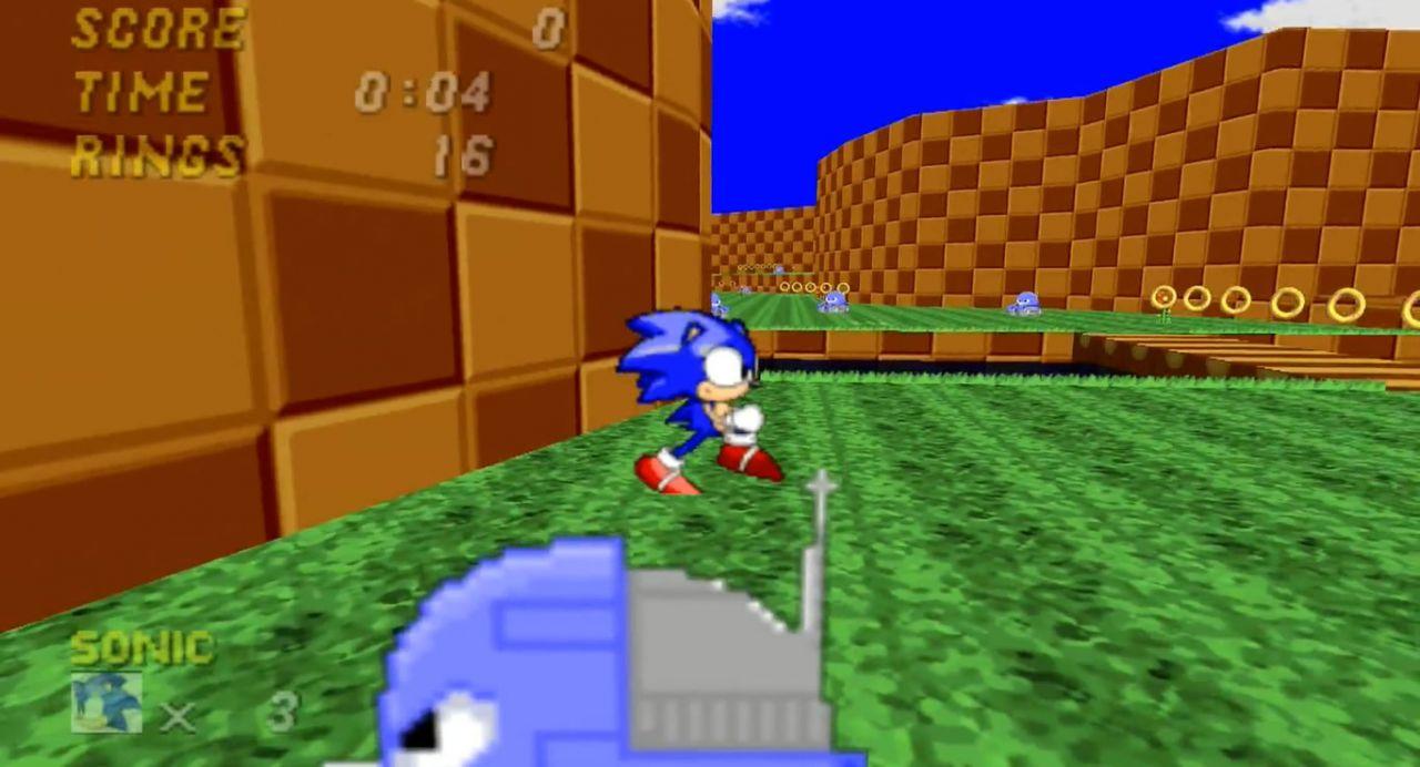 Sonic contra inimigos