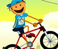 Percurso de bicicleta com a BMX do seco